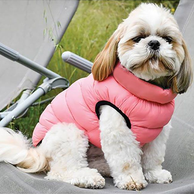 reversible puffer jacket for dogs