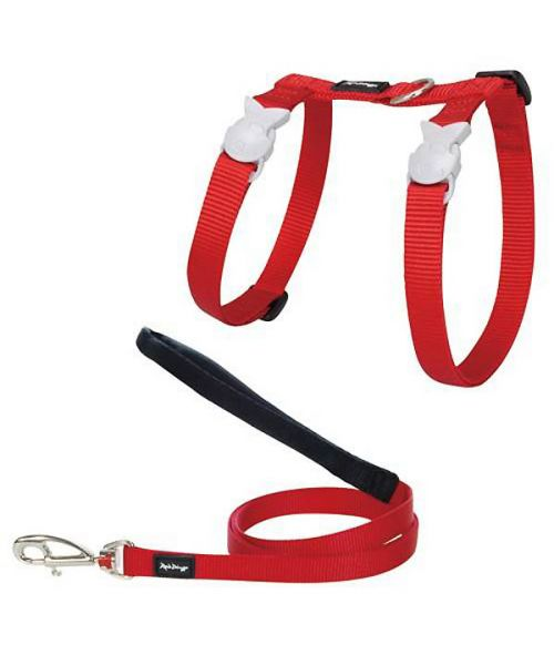 Special harness and cat Leash Red