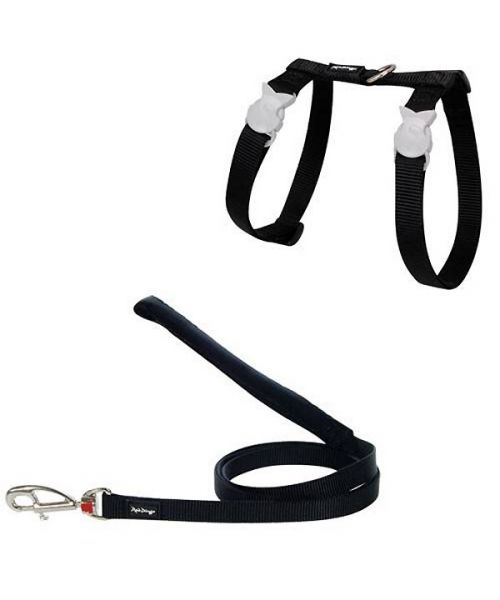 Special harness and cat Leash Black