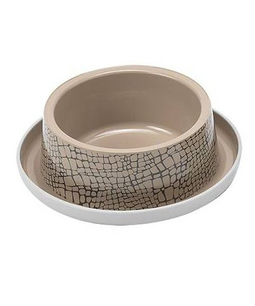 bowl cat design beige