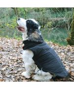 coat for large dog black