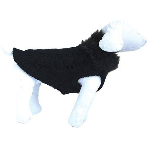 black chic dog sweater