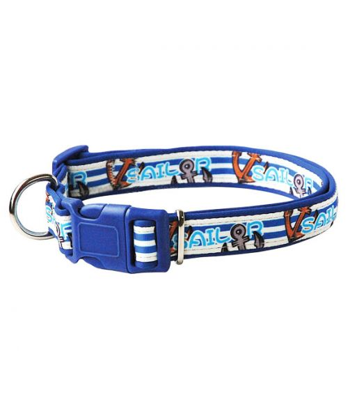 Collar nylon adjustable small medium and large dog cheap very resistant closure mouth d love