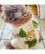 combinaison pour chien douceur ourson beige