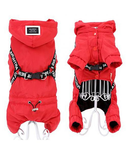 dog coat with integrated harness