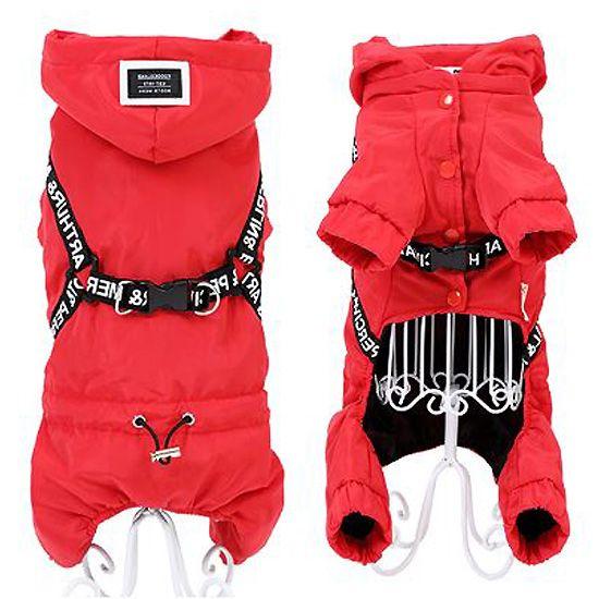 manteau avec harnais intégré pour chien