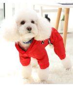 combinaison impermeable pour chien a pattes avec harnais