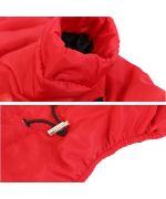 combinaison d'hiver pour chien rouge pour le ski