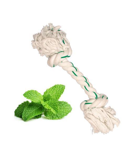 jouet pour chien en corde menthe pour les dents haleine fraiche animaux de compagnie livraison dom tom guadeloupe