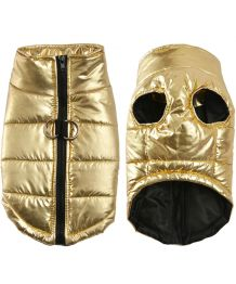 Light down jacket for dog - golden