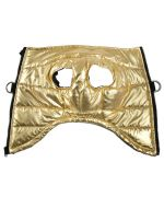 gold dog coat with integrated harness