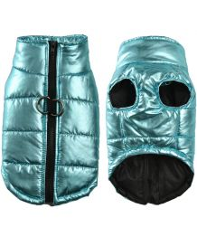 Light down jacket for dog - blue