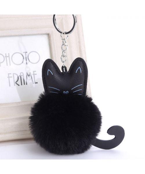 keychain cat with pom-pom