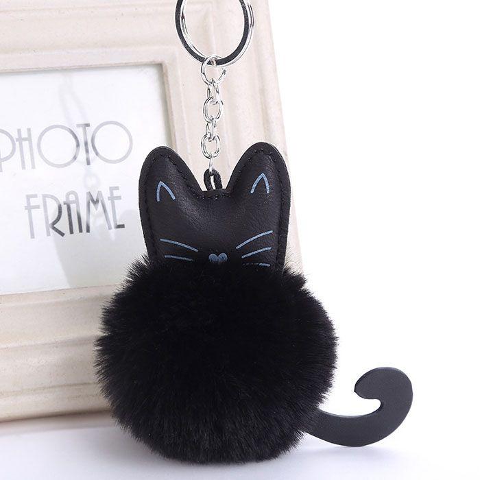 porte clés chat avec pompon