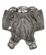 doudoune argentée chaude pour chien
