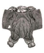 warm silver puffer jacket for dogs