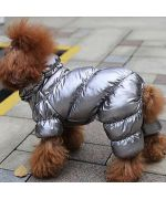 warm coat for dog silver