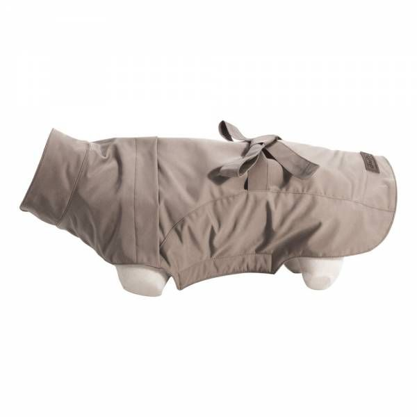 trench pour chien beige impermeable