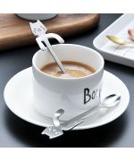 tablespoon to cup coffee or dessert with a cat's head not expensive too cute original gift