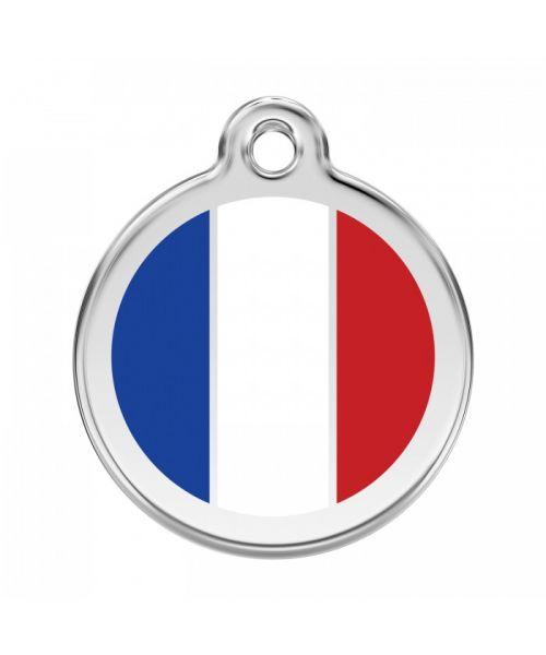 médaille-pour-chien-chat-drapeau-france-livraison-gratuite-boutique-gueule-damour-guadeloupe-martinique
