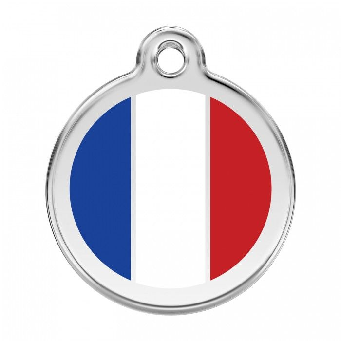 medaille personnalisee france chien et chat