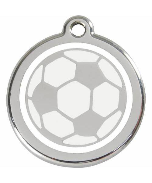 médaille avec ballon de foot pour chien et chat