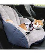coussin de voiture pour chat avec ceinture