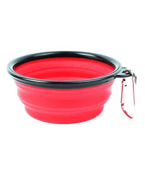 mess kit red silicone for dog and cat foldable shop pet shop nancy paris marseille monaco