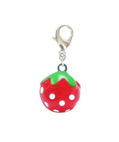 Bell for cat fun-shaped strawberry on pet shop online delivery in Paris, Cannes, Nice, Chamonix, Montpellier...