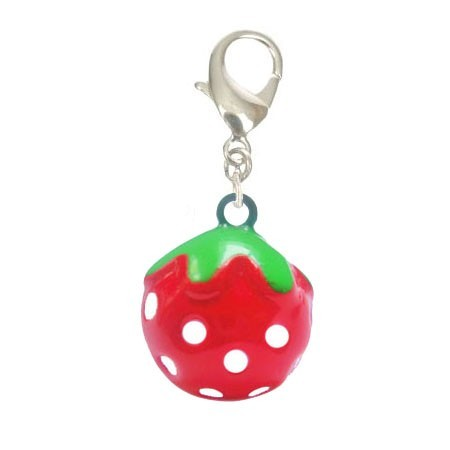 Funny strawberry-shaped cat bell on online pet store delivery Paris, Cannes, Nice, Chamonix, Montpellier ...