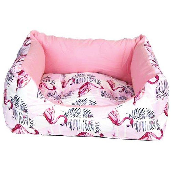 pink dog basket
