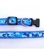 collier bleu pour chien tendance