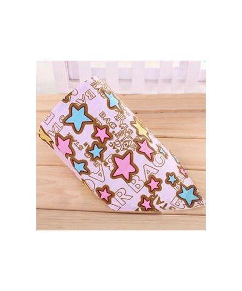 bandana pour chien rose avec étoiles