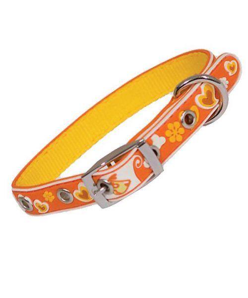 collar orange, california-style dog shop mouth d love