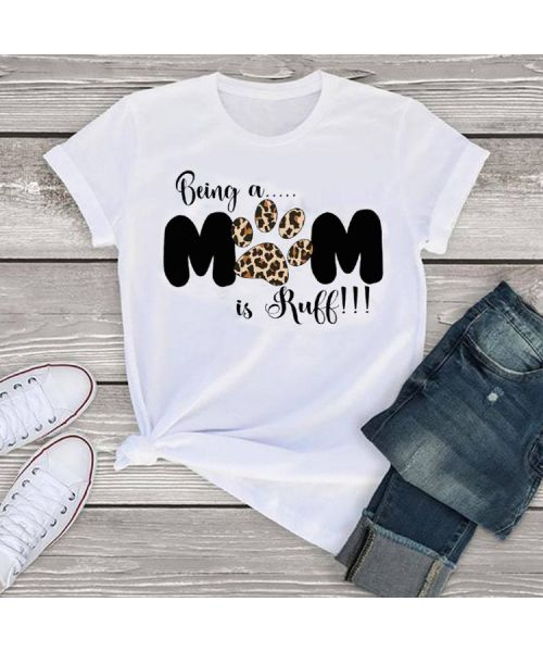 leopard t-shirt for women with animal paws