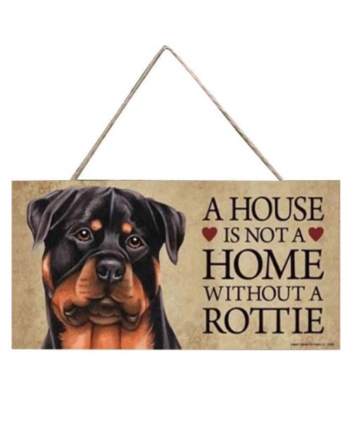plate Rottweiler home decoration