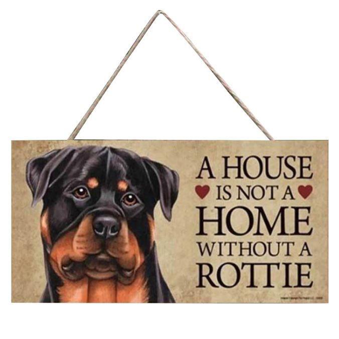 plaque Rottweiler maison decoration