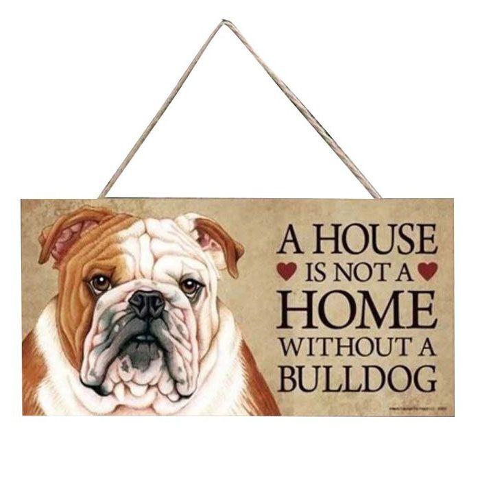plaque maison bulldog anglais