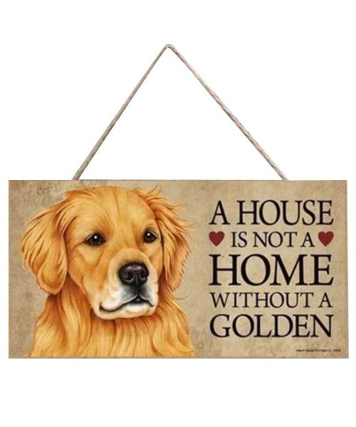 plate golden retreiver