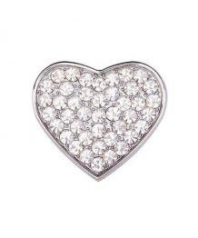Bijou 10 mm motif coeur en strass pour sellerie personnalisable