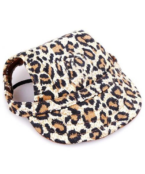 cap for dog leopard