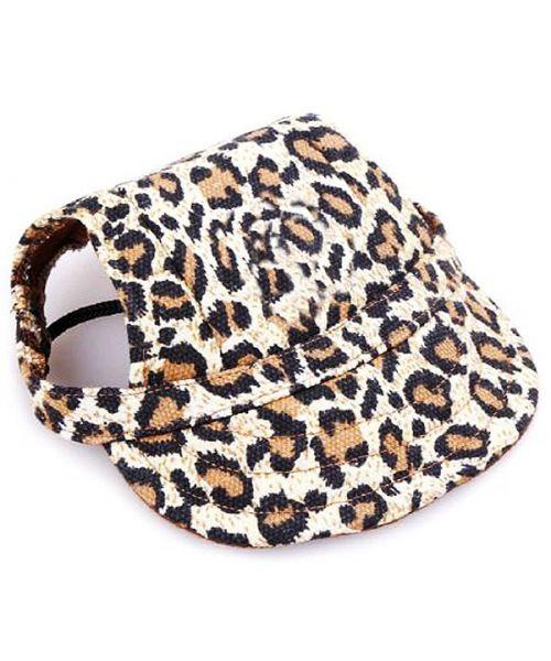casquette pour chien léopard