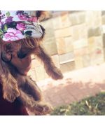 casquette pour chien femelle fleurie