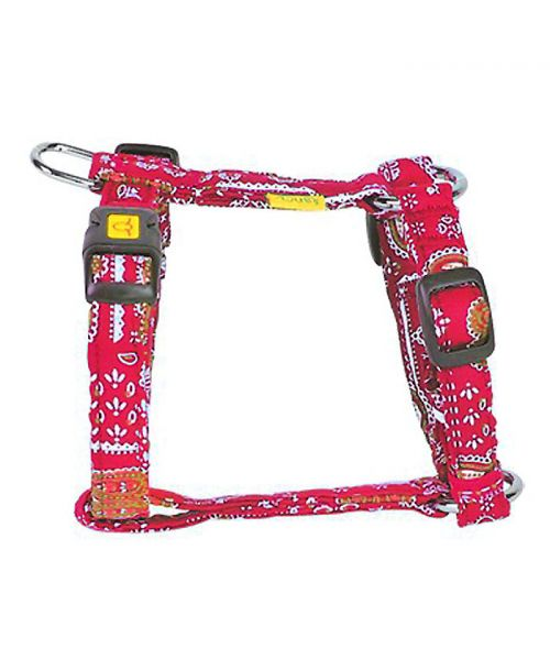red tribal dog collar