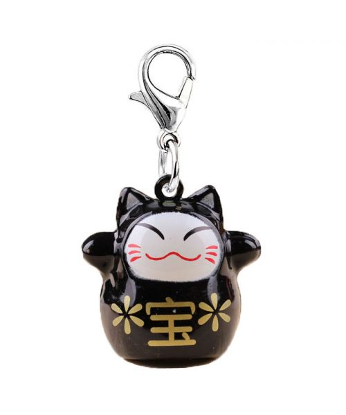 Bell for dog and cat good luck Maneki-Neko - black