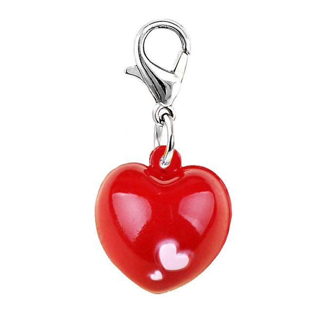 clochette pendentif pour chien coeur