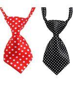 cravate pour chien rouge noir