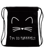 Backpack cat Strips rope - black