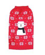 pull rouge de Noel pour chien