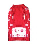 red Christmas sweater for small dogs